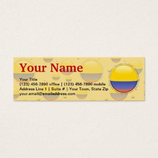 Colombia Bubble Flag Mini Business Card