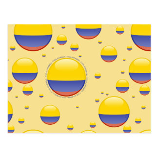 Colombia Bubble Flag Postcard
