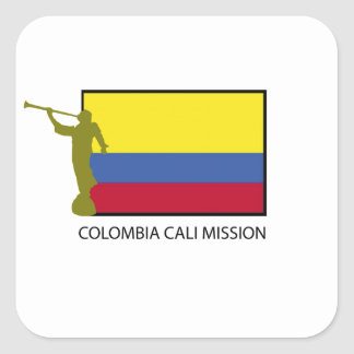 Colombia Cali Mission LDS CTR Square Stickers