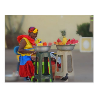 Colombia - Caribbean Fruit Vendor Postcard