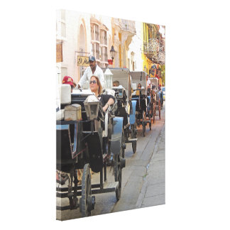 Colombia-Carriage Ride in Cartagena Canvas Print