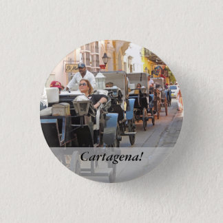 Colombia-Carriage Ride in Cartagena Pinback Button