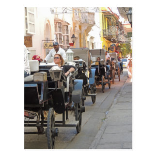 Colombia-Carriage Ride in Cartagena Postcard
