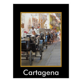 Colombia-Carriage Ride in Cartagena Poster