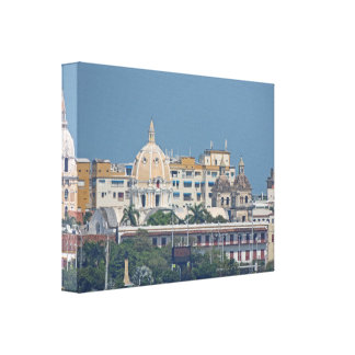 Colombia-Cartagena Waterfront Canvas Print