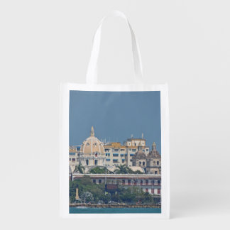 Colombia-Cartagena Waterfront Reusable Grocery Bag