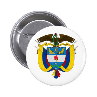 Colombia Coat of arms CO Pinback Button