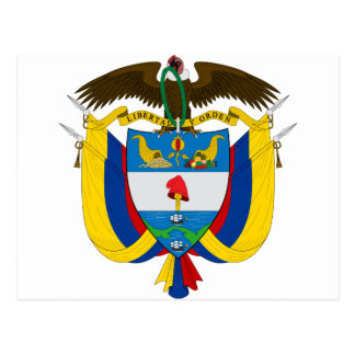 Colombia Coat of arms CO Postcard