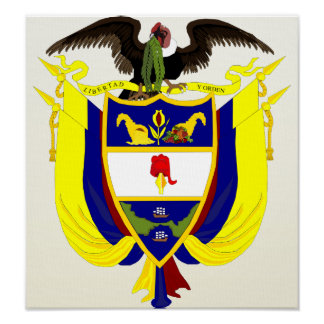 Colombia Coat of Arms detail Print
