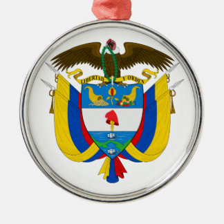 Colombia Coat of Arms Metal Ornament