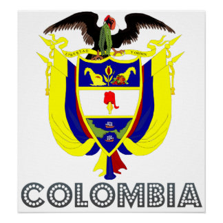 Colombia Coat of Arms Poster
