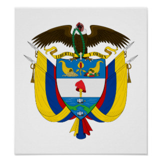 Colombia Coat Of Arms Print