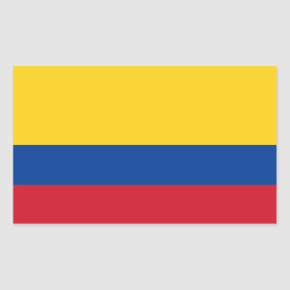 Colombia/Colombian Flag Rectangular Sticker