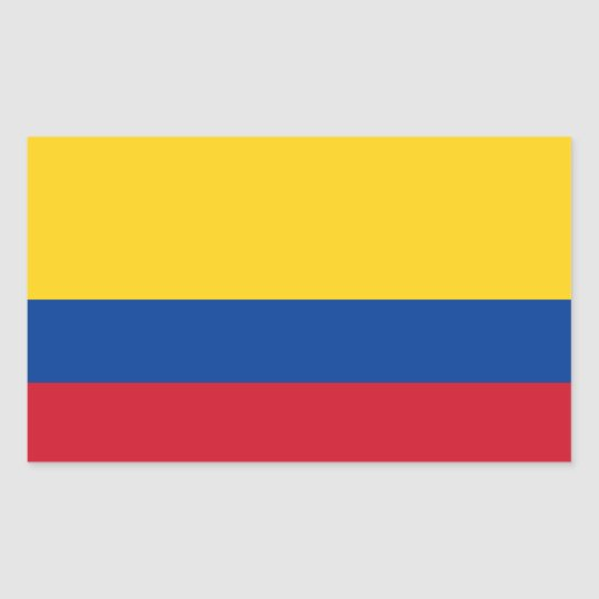 Colombia colombian flag rectangular sticker