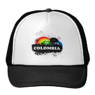 Colombia con sabor a fruta linda gorros bordados