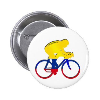 Colombia cyclist Colombian flag bicycle gear Pinback Button