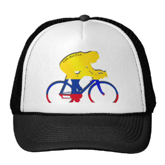 Colombia cyclist Colombian flag bicycle gear Trucker Hats
