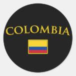 Colombia de oro etiquetas redondas
