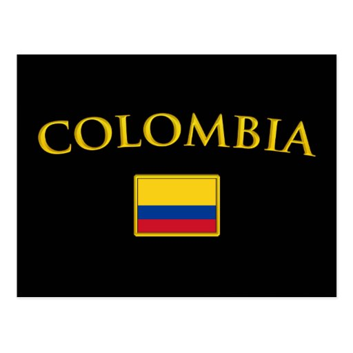 Colombia de oro tarjetas postales