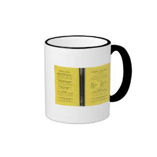 Colombia, Ecuador, Peru, Panama 2 Ringer Mug