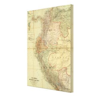 Colombia, Ecuador, Peru, Panama 3 Canvas Print