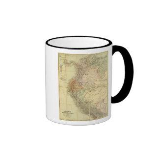Colombia, Ecuador, Peru, Panama 3 Ringer Mug