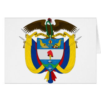 colombia emblem greeting cards