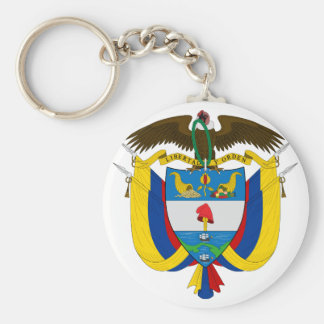 colombia emblem keychains