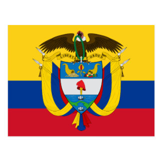 colombia emblem post card