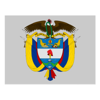 colombia emblem post cards