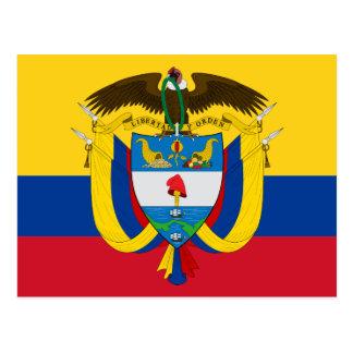 colombia emblem post card