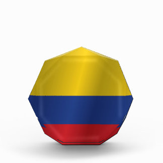 Colombia flag acrylic award