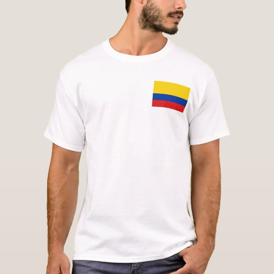 Colombia Flag and Map T-Shirt