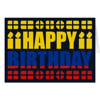 Colombia Flag Birthday Card
