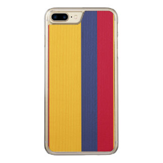 Colombia Flag Carved iPhone 7 Plus Case