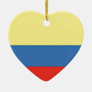 Colombia Flag Ceramic Ornament
