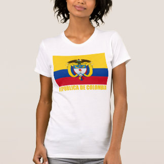 Colombia Flag & Coat of Arms T Shirt