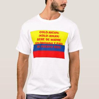 colombia_flag, COLO-RICAN:(KOLO'-RIKAN)BEBE DE ... T-Shirt