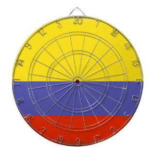 Colombia Flag Dartboard With Darts