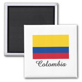 Colombia Flag Design 2 Inch Square Magnet