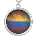 Colombia Flag Firework Necklace