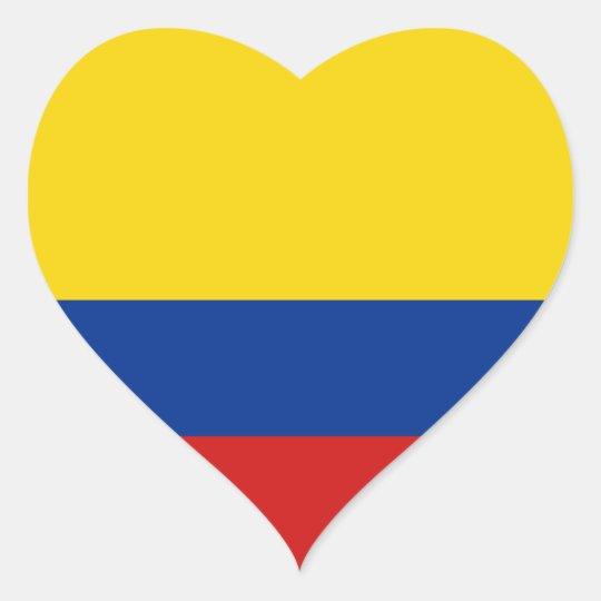 e49d600d61f Colombia Flag Heart Sticker | Zazzle.com