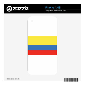 Colombia Flag iPhone 4 Decals