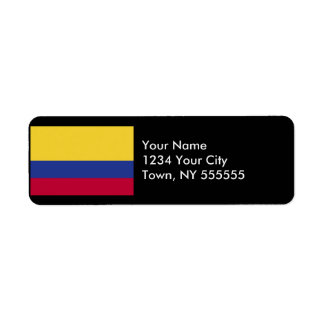 Colombia Flag Label