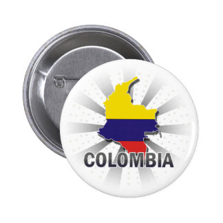 Colombia Flag Map 2.0 Pinback Button