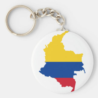 Colombia Flag map CO Keychain