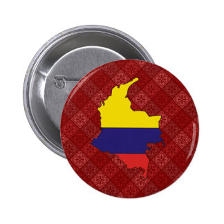 Colombia Flag Map full size Pin