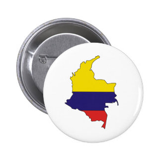 Colombia Flag Map full size Buttons