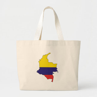 Colombia Flag Map full size Jumbo Tote Bag