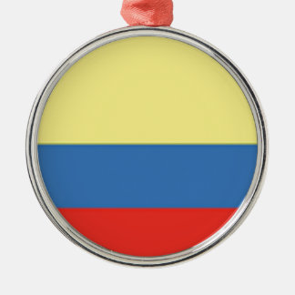 Colombia Flag Metal Ornament
